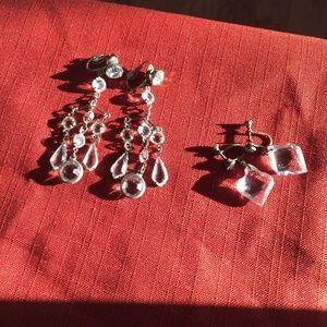 Vintage Crystal Non Pierced Earrings